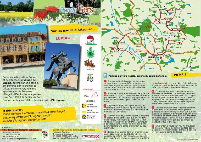 PR - Sur les pas de d'Artagnan à Lupiac
