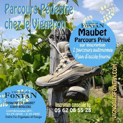Parcours pédestre Domaine de Maubet